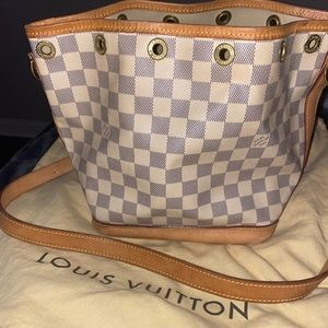 Louis Vuitton Noe Damier Azur Bucket Bag